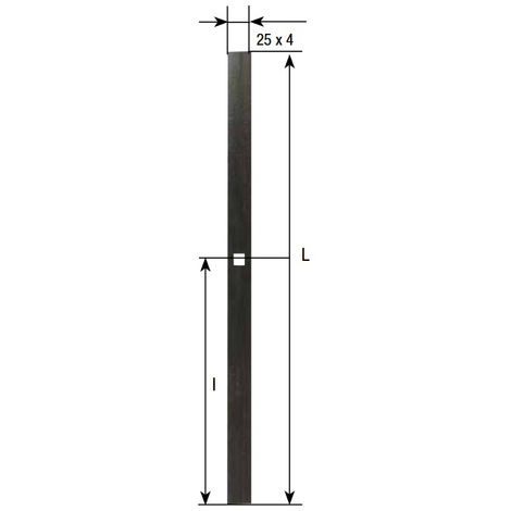 TORBEL INDUSTRIES - ESPAGNOLETTE PLATE CATAPHORESE 1.5 / 2 / 2.5 M