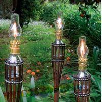 Torce in bamboo x olio paraffina citronella antizanzare h100 lt 0,2 antivento