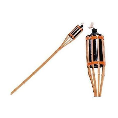 Torce Torcia Fiaccola In Bamboo Da Terra H.120Cm Arredo Giardino