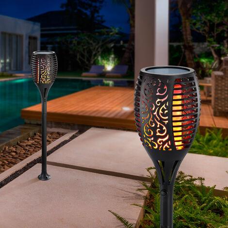 """main image of """"Torche solaire lot de 2 torche de jardin effet flamme lampe solaire jardin esotec 102489"""""""