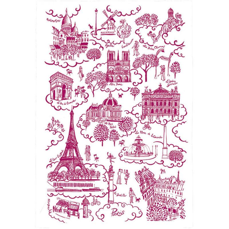 Winkler - Torchon Paris Toile de Jouy - ROUGE