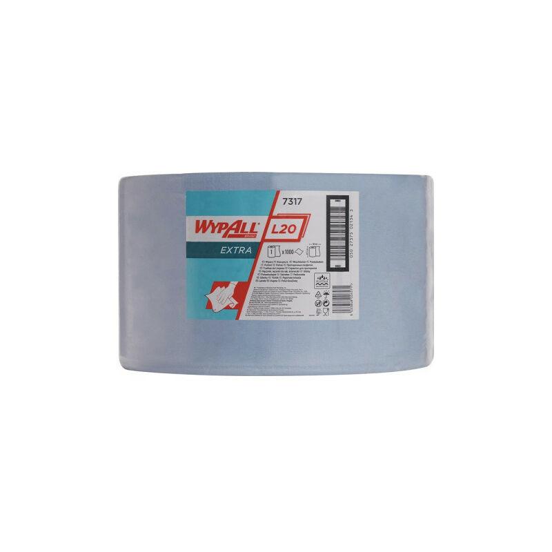 Torchon WYPALL L20 EXTRA+ L380xB235ca.mm bleu 2-couches