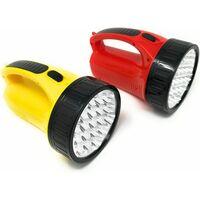 Torcia A 19 Led Ricaricabile Luce Potente Illumina Fino 500 Metri