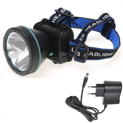 Torcia lampada luce led frontale notturna per pesca caccia escursioni emergenza