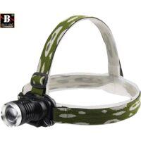 Torcia lampada frontale led ricaricabile pesca grotte fascio luce waterproof 809
