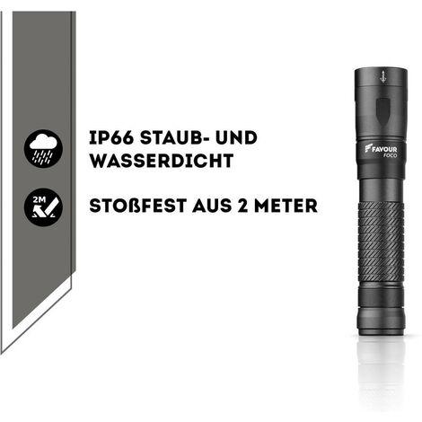 Favour Foco T2117 LED (monocolore) Torcia tascabile a batteria ricaricabile 1000 lm 50 h 166 g - 270FAHANDT2117