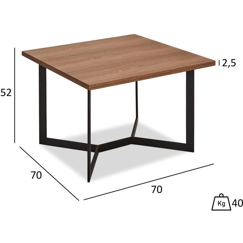 Pkline - Tori Couchtisch 710x70 cm Wallnuss Furnier, schwarz. 45-130028