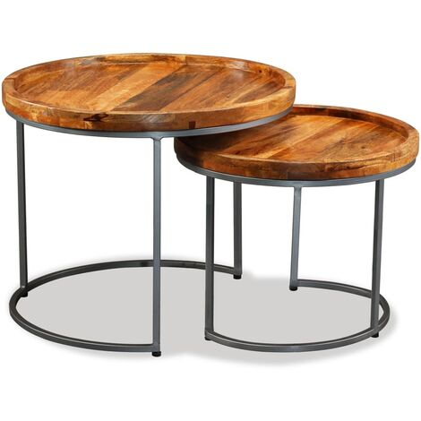 Torin Solid Mango Wood 2 Piece Nest of Tables by Union Rustic - Brown