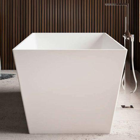 Torino vasca da bagno freestanding 175 x 80 x 61 in BluStone colore bianco