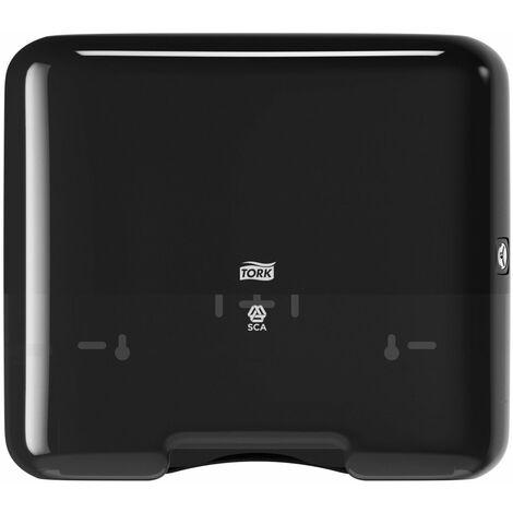 Tork 553108 Mini distributeur pour papier essuie-mains pliés en V / pliés en C - H3 - Design Elevation - Noir