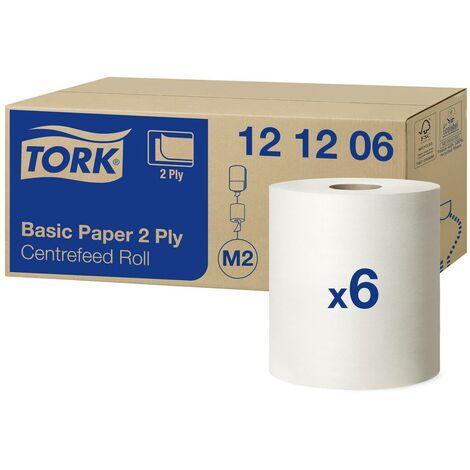 TORK Papier essuie-tout standard 121206 Système M2 : 2 épaisseurs 6 rouleau(x)