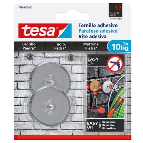 Tornillo adhesivo redondo hasta 10kg ladrillo/piedra TESA