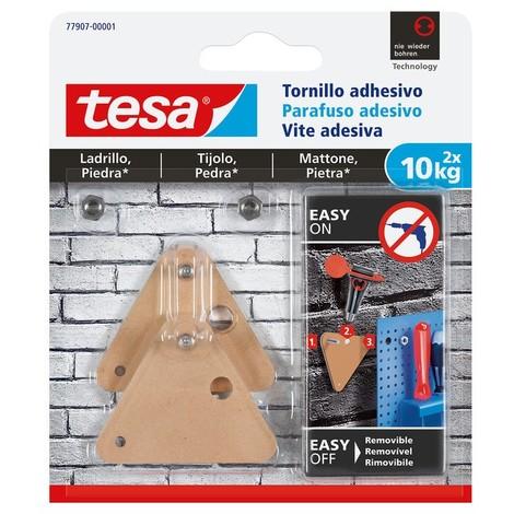 Tornillo adhesivo triangular hasta 10kg ladrillo/piedra TESA