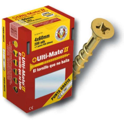 Tornillo de alto rendimiento Ulti-Mate II para MADERA BICROMATADO medidas 4.5x50 mm (caja de 200 uds.)
