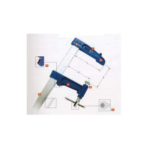 Tornillo de apriete modelo clásico 3P de cabezal fijo de 40cm de apertura Urko