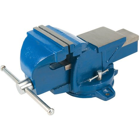 """Tornillo de banco con base giratoria, 100 mm (4"""") Capacidad: 160 mm / 16 kg - NEOFERR"""