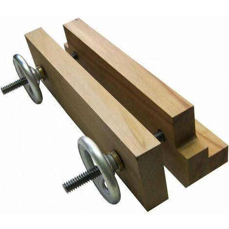 Tornillo de banco con husillo doble y mordazas de madera MOXON US500 YORK