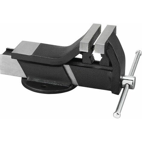 Tornillo de banco de acero con aprieta tubos 80x20mm FERVI 0145/80