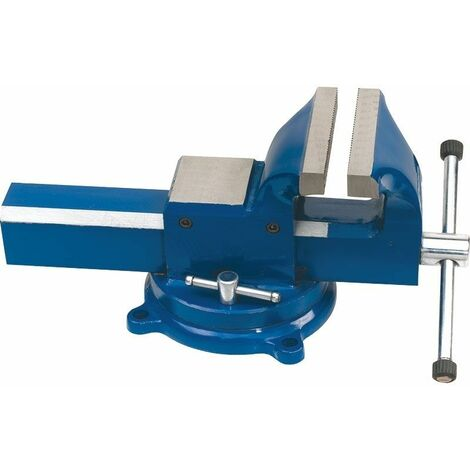 Tornillo de banco de acero y base giratoria 100mm. Abertura 90mm FERVI 0036/100G
