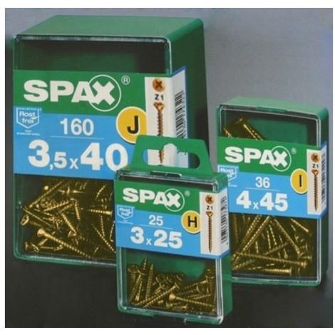 Tornillo r/mad. 04x040mm bicromat. spax 100 pz