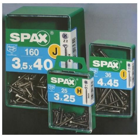 Tornillo r/mad. 04x040mm inox spax 18 pz