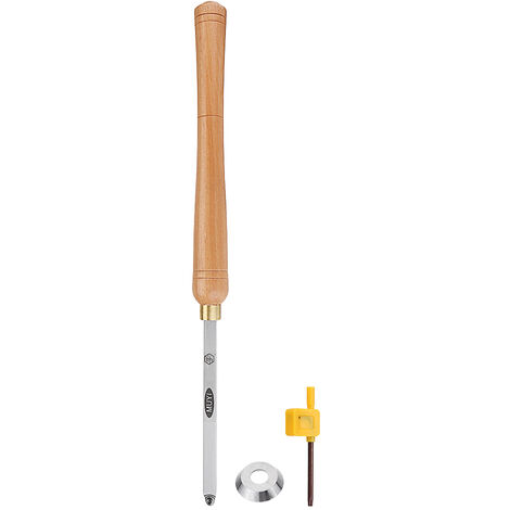 Torno de madera Herramienta de torneado de carburo Herramientas de corte de mango cuadrado con mango de madera Herramienta de carpintería (A: Redondo)