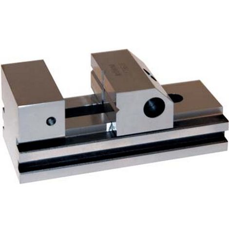 Torno de precisión PL-S, tamaño : 2, Ancho de las bocas 90 mm, capacidad de fijación 120 mm, altura des bocas : 40 mm, altura total : 80 mm