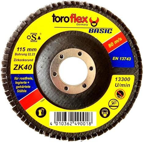 Toroflex Toroflex BASIC Zirkonkorund Fächerscheibe - F29 konvex - diverse Durchmesser & Körnungen