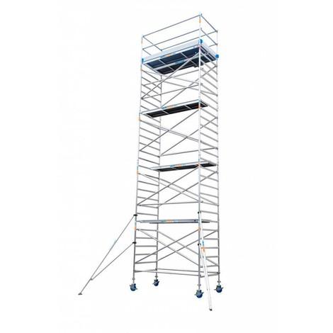 Torre andamio europeo móvil de aluminio IBERANDAMIOS 135 x 250 con 10,20 mts altura de trabajo