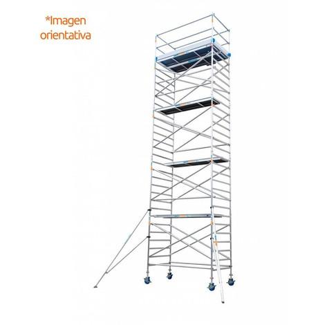 Torre andamio europeo móvil de aluminio IBERANDAMIOS 135 x 250 con 12,20 mts altura de trabajo