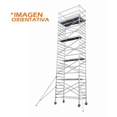 Torre andamio europeo móvil de aluminio IBERANDAMIOS 135 x 250 con 7,20 mts altura de trabajo