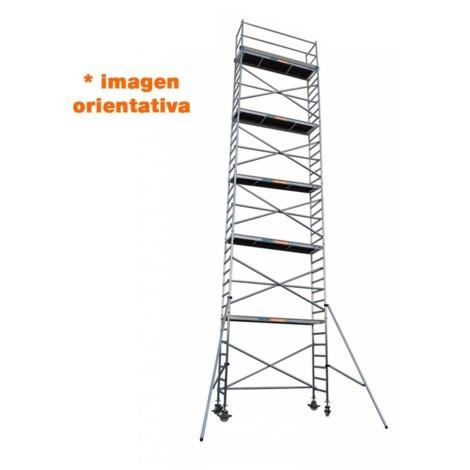 Torre andamio móvil de aluminio IBERANDAMIOS 75 x 250 x 920 altura de trabajo
