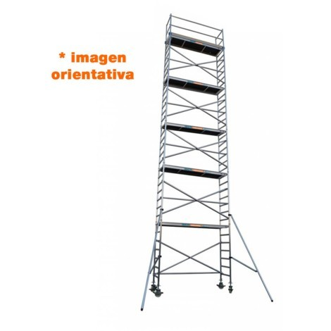 Torre andamio móvil de aluminio IBERANDAMIOS 75 x 305 x 920 altura de trabajo