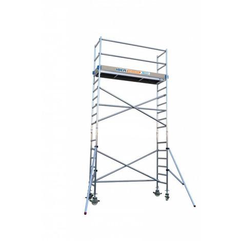 Torre andamio móvil de aluminio IBERANDAMIOS 75x190x620 altura de trabajo