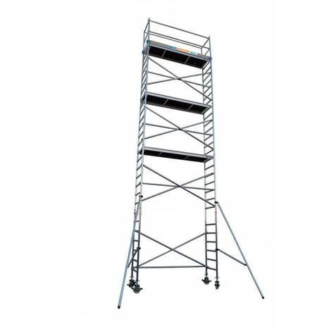 Torre andamio móvil de aluminio IBERANDAMIOS 75x305x1020 altura de trabajo