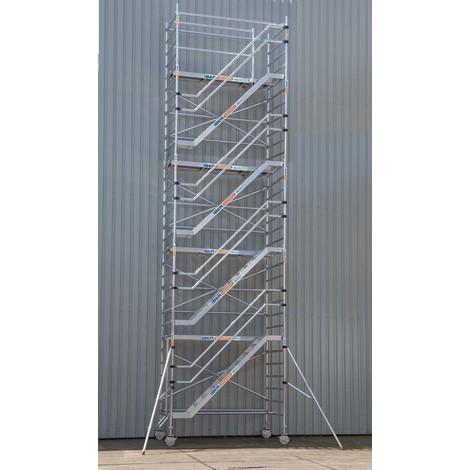 Torre de escaleras 135 x 250 x 10,2 m altura de trabajo