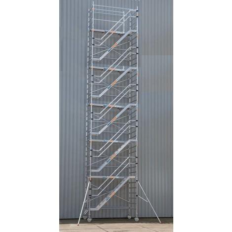 Torre de escaleras 135 x 250 x 12,2 m altura de trabajo