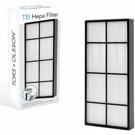Tors & Olsson Air Purifier with HEPA and Carbon Filters / Home and Office Use / Helps Relieve Allergies & Improves Sleep Quality / Optional Replacement Filters (T31 Replacement Filter)