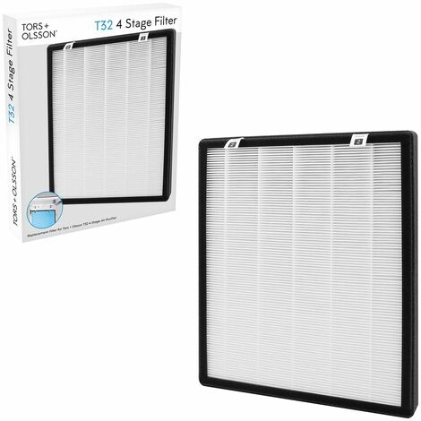 Tors & Olsson Air Purifier with HEPA and Carbon Filters / Home and Office Use / Helps Relieve Allergies & Improves Sleep Quality / Optional Replacement Filters (T32 Replacement Filter)