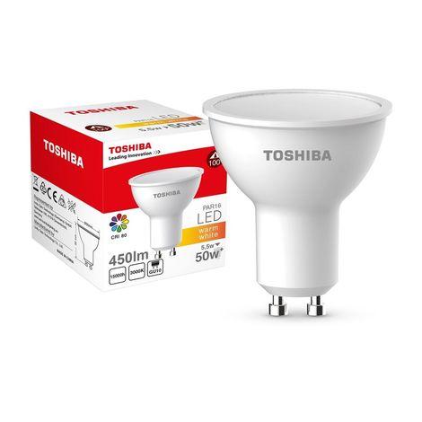 TOSHIBA 00601760060A PAR16 AMPOULE LED VERRE 50 W GU10 BLANC CHAUD TOSHIBA LIGHTING