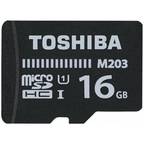 Toshiba M203 - 16 Go - MicroSDXC - Classe 10 - UHS-I - 100 Mo/s - Class 1 (U1) (THN-M203K0160EA)
