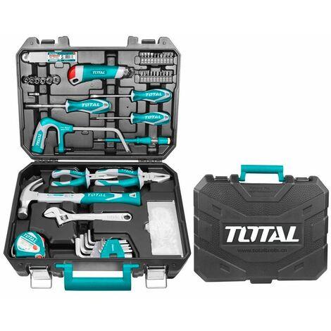 Total - Ensemble de 117 outils, forets et accessoires