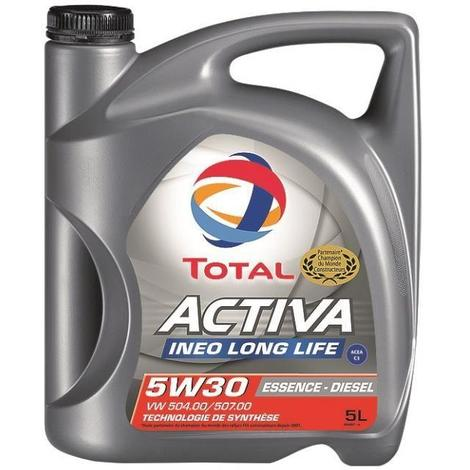 TOTAL Huile moteur Total Activa Ineo Long Life - 5L