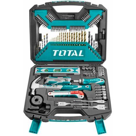 Total - Kit de 120 outils, forets et accessoires