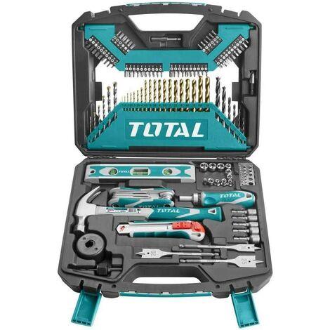 Total Tools Maletín Brocas herramientas y martillo 120 Piezas THKTAC01120