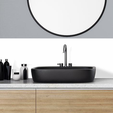 Total White | Crédence salle-de-bain en PVC Blanc - Lot de 2 bandeaux L70xH30cm