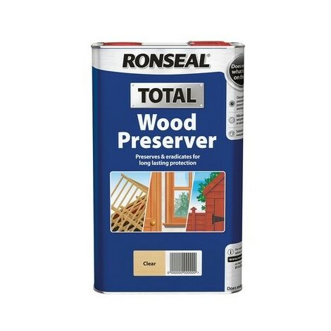 Ronseal 37658 Total Wood Preserver Clear 5 Litre