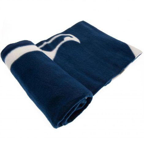 Tottenham Hotspur F.C. Fleece Blanket PL (One Size) (Blue)