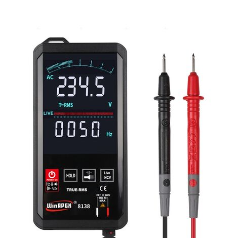 Touch DC / AC Digital Multimeter Professional True RMS Analog Tester