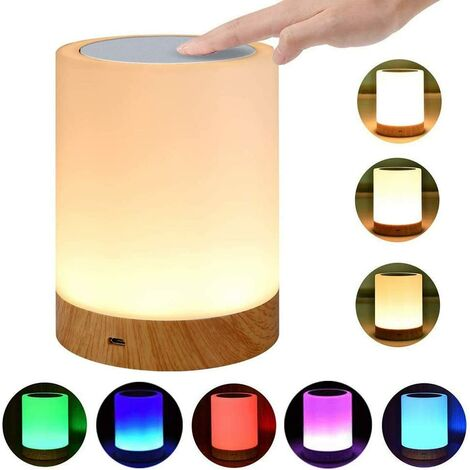 """main image of """"Touch Dimmer Bedside Lamp, Color Change, Touch Sensor, RGB + Warm White Mood Light, Handle, Portable"""""""